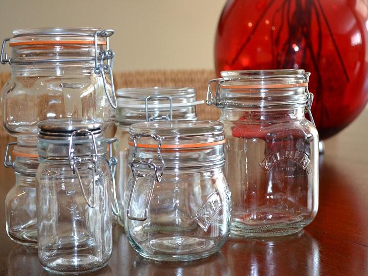 Reusable glass jars