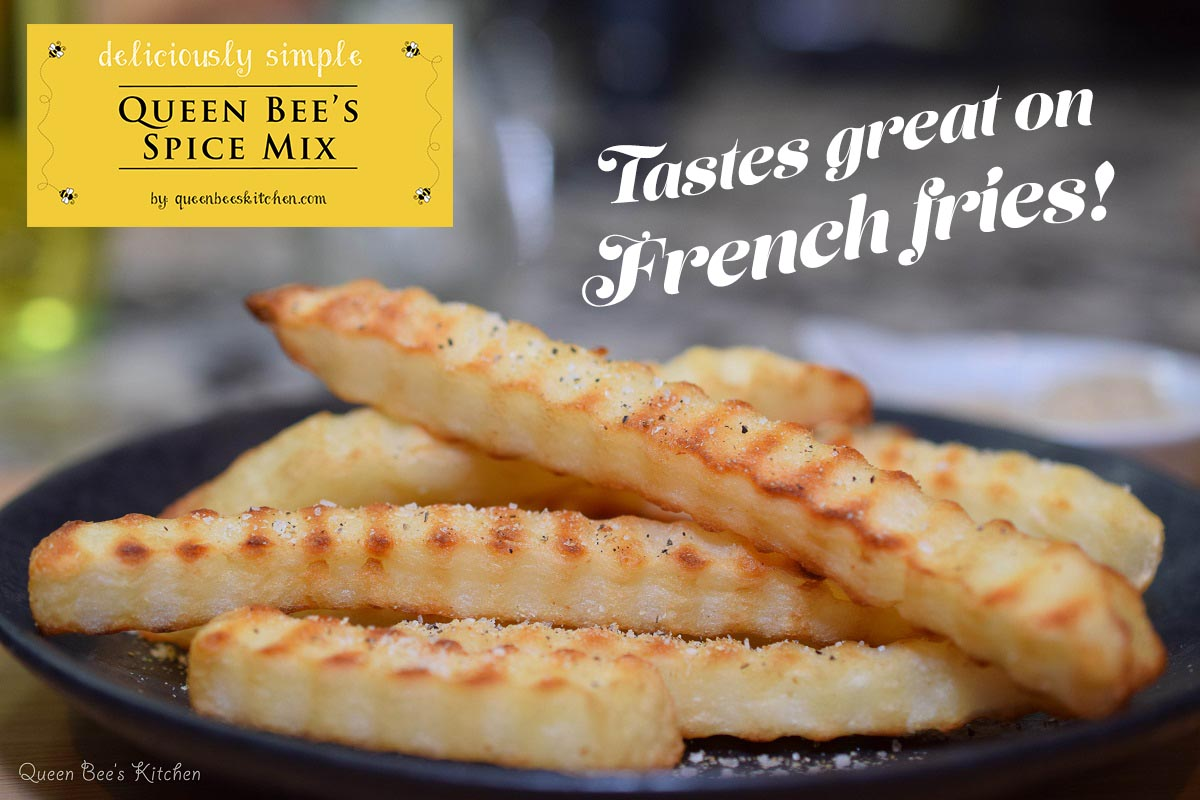 French fries with QBK spice mix