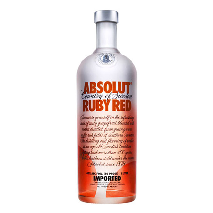 Absolute Ruby Red vodka