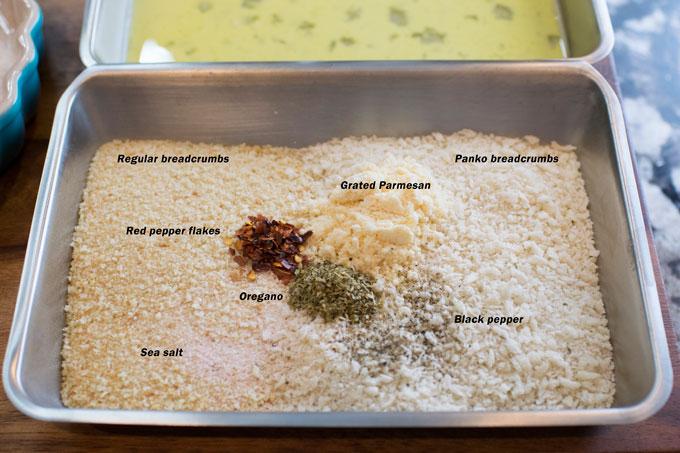 Chicken Napoli breading ingredients