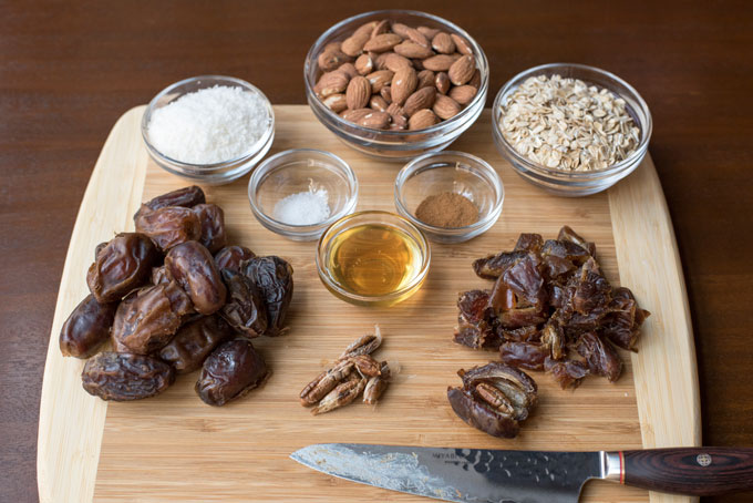Ingredients for Coconut Date Snack Bites