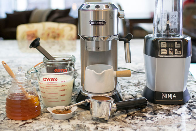 Everything you need for a Honey Cinnamon Latte